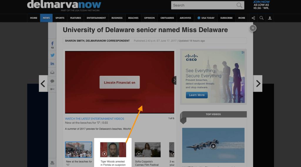 Delmarva Miss Delaware - above the fold