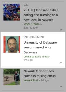 Tiger Woods in Delaware