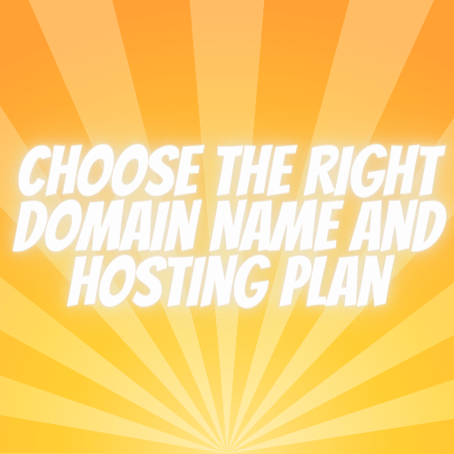 Choose the Right Domain Name and Hosting Plan - product cover